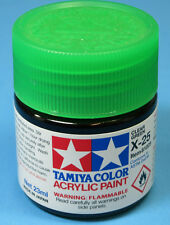 Tamiya GLOSS CLEAR GREEN  Acrylic Hobby Model Paint Acrylic X25  23ml 81025 X-25