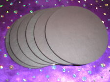 "Set of 6 genuine welsh slate coasters - round 4"" (table mats also available)"