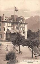 CPA SUISSE Gd HOTEL ET KURHAUS BRUNIG PROMENADE (cliché pas courant