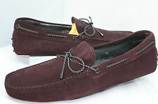 Tod's Men's Brown Shoes Loafers Drivers Size 8 Laccetto Colors New Gommini NIB