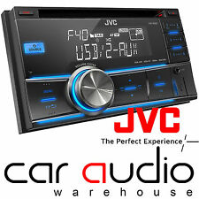 Jvc kw-r400 Doble Din Car Stereo Radio Mp3 Usb Aux In 4x50w unidad Reacondicionada