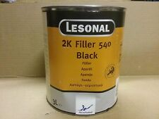 Lesonal 2K Filler 540 Black 3 litre    Primer Surfacer   AKZO