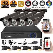 8 CH 1080N HDMI DVR 3500TVL Outdoor LED Night Vision CCTV Security Camera System