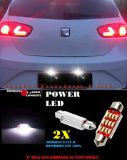 SEAT LEON 1P LUCI TARGA 12 LED SMD BIANCO ALTA QUALITA' 36MM NO ERRORE