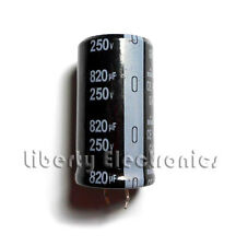 NEW 820 uF by 250V ELECTROLYTIC CAPACITOR 45x25mm