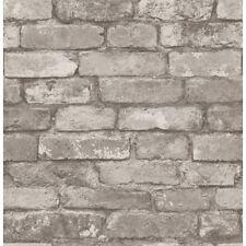 Fine Decor Distinctive Silver/Grey Rustic Brick Effect Wallpaper (FD31286)