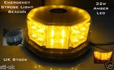 AMBER LED RECOVERY TRUCK 12V STROBE LIGHT BREAKDOWN FLASHING ORANGE BEACON