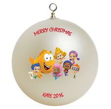 Personalized Custom Bubble Guppies Christmas Ornament Gift Add Childs Name Here
