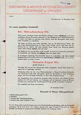 COSSEBAUDE b. Dresden, Weihnachts-Werbung 1936, Gasherde Eisenwerk G. Meurer AG