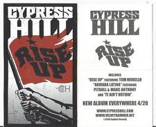 """Cypress Hill - Rise Up promo sticker appx. 3"""" wide by 5"""" tall NEW D"""