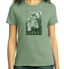 Mahatma Gandhi at Darwen, T-Shirt, Ladies, Mens, Youth, 5 Colors, NWT