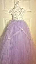 Purple Easter Tutu Princess Dress w/ Flowers  Sz 6 Halloween Wedding