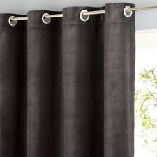 AM.PM Teddy Sheer Velour Curtains in Brown - 140cm x 220cm drop RRP £98