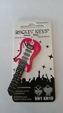 Pink Electric Guitar Blank House Key, Key Blank, KW,KW1,KW11