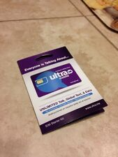 ULTRA MOBILE Nano SIM Card W/ Two months $29 Plan Services (Read Description)