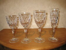 ROGASKA CRYSTAL *NEW* AMANDA Set 4 Verres Glasses