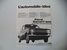 advertising Pubblicità 1968 FORD ESCORT 1100