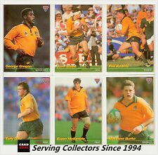1995 Australia Rugby Union Trading Cards Base Card Set (110)--MINT!!