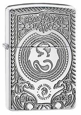 Zippo Lighter: Anne Stokes Dragon Design, Armor - High Polish Chrome 28962