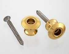 Dunlop Dual Design Guitar Bass Strap Lock BUTTONS ONLY NEW Gold Finish Pair