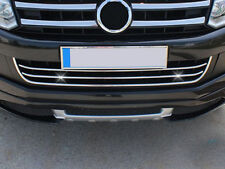 VW AMAROK CHROME LOWER GRILLE BARS 3pce - PAINTED BUMPERS