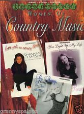 Songbook-New Generation Women of Country Music-Piano-Vocal-Chords-Twain-Tillis++