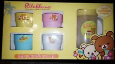 Authentic San-X Rare Kitchenware Rilakkuma Stacking 4 Cup Bottle /Pitcher Set