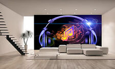 Of Sound, Music and Headphones Wall Mural Photo Wallpaper GIANT WALL DECOR