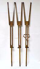 Antique Tripod Wood Legs Wood Lamp Decor Art Vintage Wooden Tripod Brass Stativ