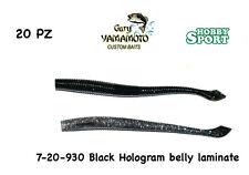 """GARY YAMAMOTO 4"""" KUT TAIL WORM 7-20- 930 BLACK HOLOGRAM   PZ 20 NEW"""