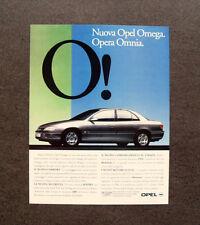 [GCG] L310- Advertising Pubblicità -1998- OPEL OMEGA , OPERA OMNIA
