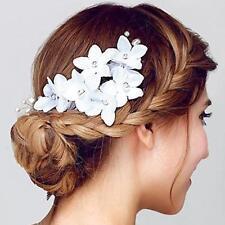 Elegant Bridal Hair Comb Flower Crystal Pearl Headpiece Wedding Accessory