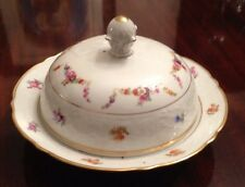 Stunning Vintage SCHUMANN Arzberg Germany Covered Cheese Butter Bowl Dish