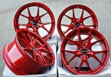 "18"" CRUIZE GTO ALLOY WHEELS CANDY APPLE RED Y SPOKE 5X112 18 INCH ALLOYS"