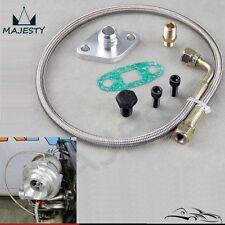 Oil Feed Line Kit Flange for Toyota Supra 1JZGTE 2JZGTE 1JZ/2JZ Single Turbo SL
