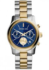 Michael Kors Women's Chronograph Runway Two Tone Stainless Steel Watch MK6165