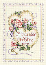 Dimensions Cross Stitch Kit - United Hearts Wedding Record