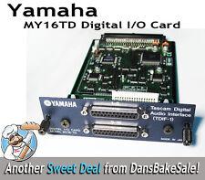 Yamaha MY16TD-CA Digital I/O Card Tascam Digital Audio Interface (TDIF-1)