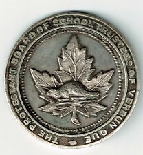THE PROTESTANT BOARD OF SCHOOL TRUSTEES OF VERDUN QUE 1934 STERLING SILVER MEDAL