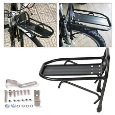 DIY Black Aluminum Alloy Bicycle Bike Cycling Front Rack Panniers Bag Bracket