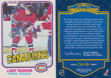07-08 O-Pee-Chee BUYBACK AUTO Larry ROBINSON 1981-82 - Canadiens