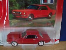 1965 FORD MUSTANG GT JOHNNY LIGHTNING 1/64 scale COLLECTOR #5 RED HARDTOP