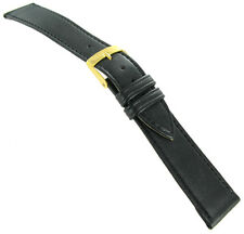19mm Morellato High Quality Soft Genuine Leather Black Watch Band Regular 112