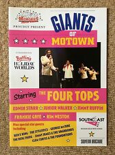 THE FOUR TOPS Signed GIANTS OF MOTOWN 91 Programme SOUL EDWIN STARR JIMMY RUFFIN