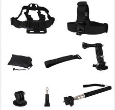 8 in1 Set Kit Telescopic Monopod+Chest Strap For GoPro Hero 1 2 3 3+ SJ4000 Cam