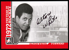 09 ITG 1972 THE YEAR IN HOCKEY WHA AUTO AUTOGRAPH SIGNED ALTON WHITE  L A SHARKS