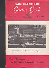 San Francisco Greeters Guide September 20 1966 Ghiradelli Square
