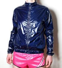 Jacke Windjacke Glanznylon Nylon glänzend shiny glossy wetlook wasserabweisend M