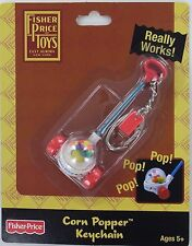 Fisher-Price FP CORN POPPER Push Toy Keychain Keyring Mini Miniature Basic Fun