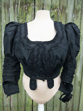 ORIGINAL EDWARDIAN LARGE SIZE BALL GOWN BODICE FOR STUDY C.1905 VICTORIAN